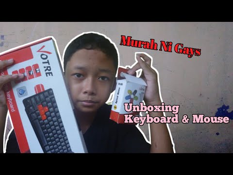 Unboxing Keyboard & Mouse Votre-Murah Ni Gays