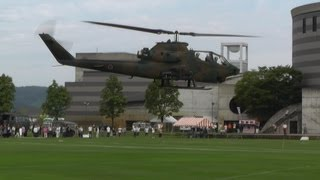 """Cobra & Huey"" JGSDF (Japan Ground Self Defense Force) AH-1S & UH-1H in OYABE Helicopter Festival"