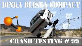 BeamNG Drive GTA IV 'S Dinka Blista Compact Crash Testing #99