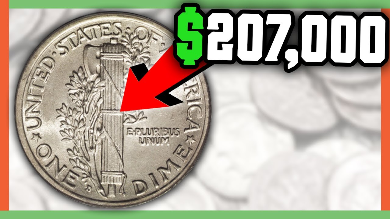 207 000 Rare Dime Worth Money Mercury Full Split Bands