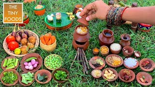 VEGETARIAN RECIPE | BISI BELE BATH | Healthy Vegetables Recipe | Sambar Sadam Cooking In Village