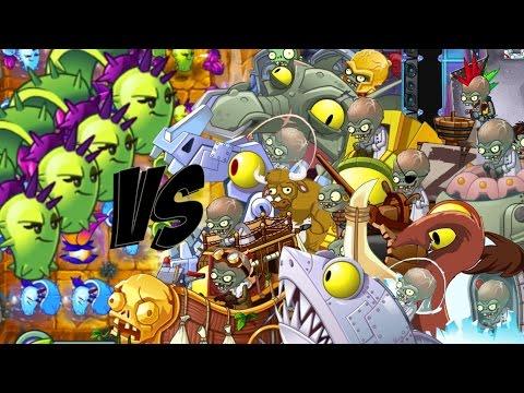 Plants vs Zombies 2 Epic Hack : Dusk Lobber vs Each Zombots Specials!