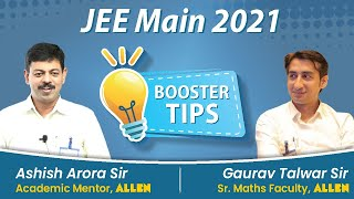 Last Minute Booster Tips for JEE Main 2021 exam | Best Guidance \u0026 Strategy for JEE Main
