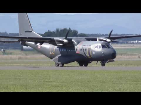CASA CN-235 French AF from New Caledonia at RNZAF Air Tattoo 25 Feb 2017