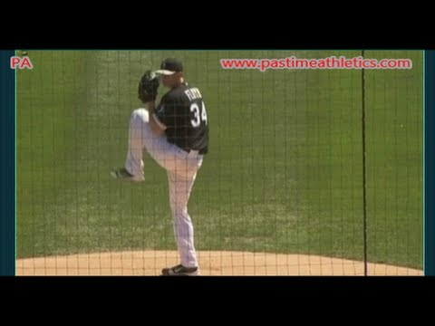 Gavin Floyd Slow Motion Baseball Pitching Mechanics - Chicago White Sox Pitcher Tips Drills MLB
