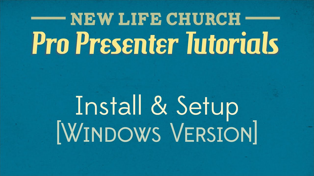 ProPresenter Tutorial 01 - Install and Setup (Windows Version) | FunnyDog.TV