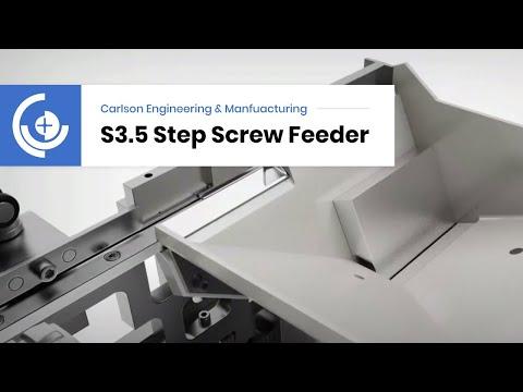 Carlson Engineering Step Feeder For Feeding Screws
