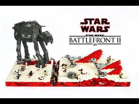 LEGO Star Wars Battlefront 2 Crait MOC / The Last Jedi LEGO MOC / Custom AT-M6 , Ski-Speeders