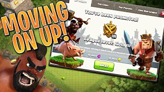 GOLD LEAGUE!  TH8 Clash of Clans