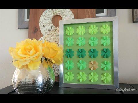 diy-paper-craft:-how-to-make-four-leaf-clover-art