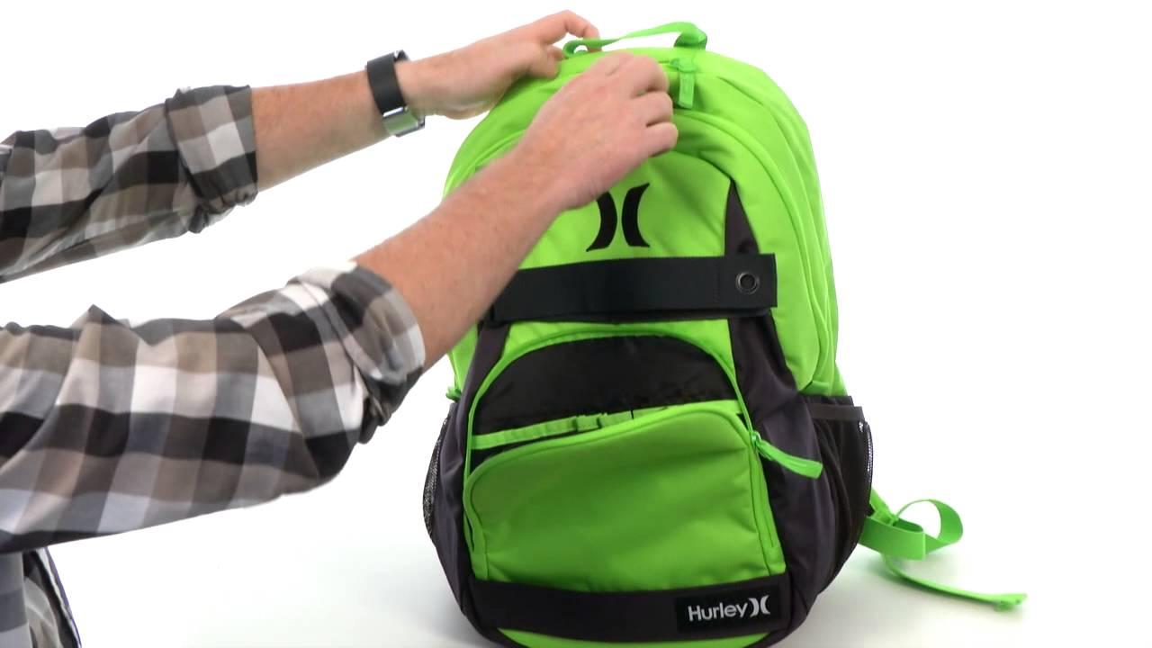 67ad5220ba Hurley Honor Roll Solid Blocked Backpack SKU 8416083 - YouTube