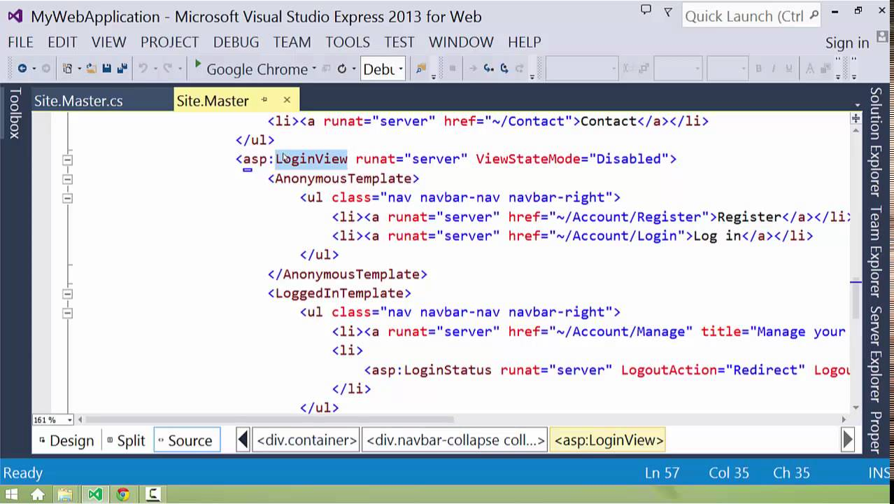 Introduction to ASP.NET Web Forms: Master Pages - YouTube