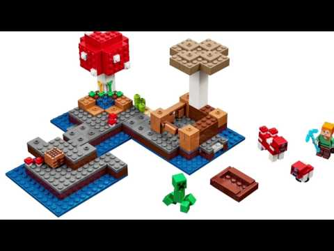 LEGO Minecraft The Mushroom Island - 21129 - YouTube