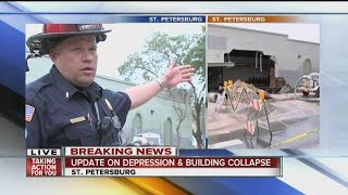 St. Petersburg Fire Marshal updates building collapse and water main leak