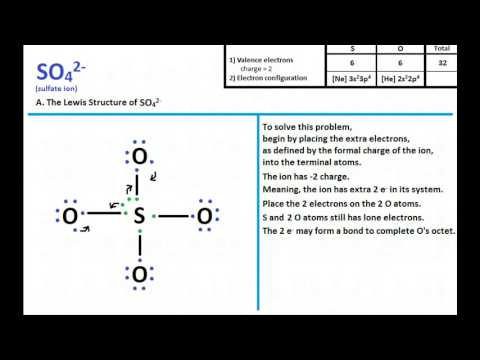 So4 2- Lewis Structure And Molecular Geometry - Youtube