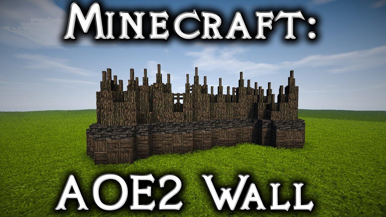 Minecraft Aoe2 Eastern European Fortified Palisade Tutorial