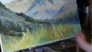 НОВИНКА! Мастер-класс Игоря Сахарова 'Горный пейзаж'.