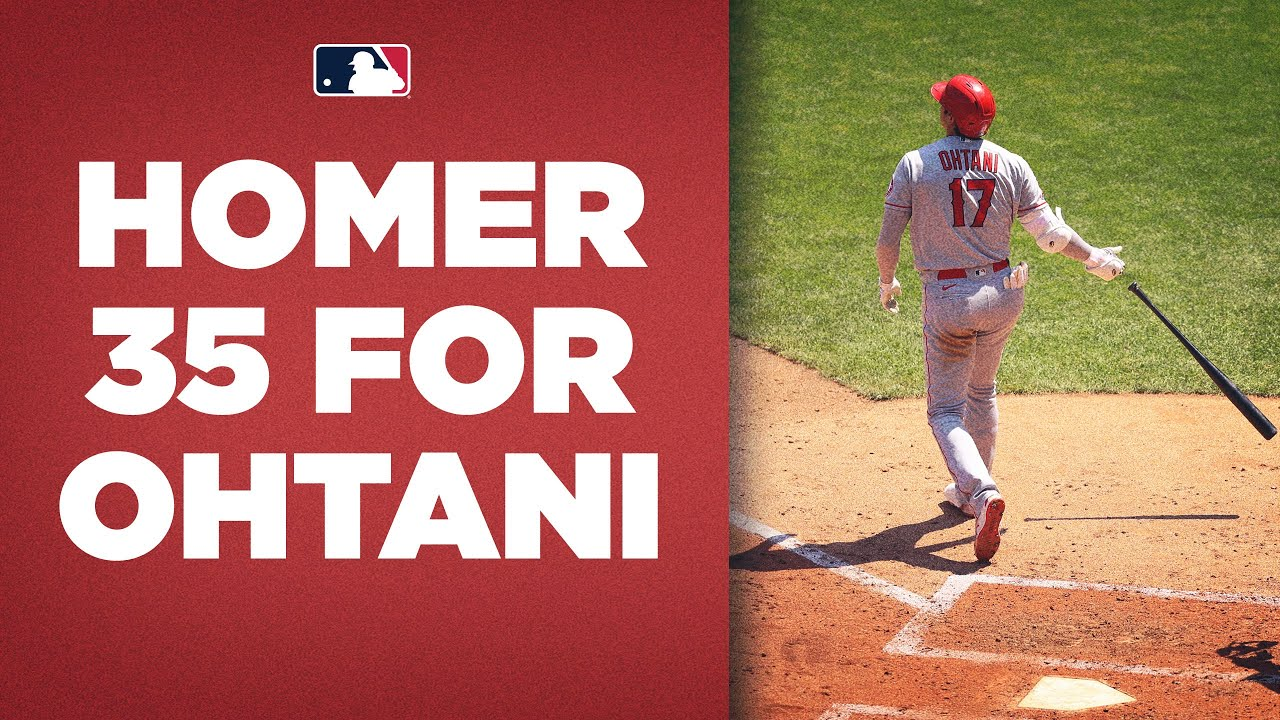 Download Shohei Ohtani hits homer number 35 FOR THE LEAD! (Majors home run leader CRUSHES this ball)