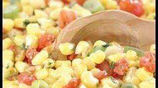 How To Prepare Corn And Green Chili Salad - Healthy Food, Funny Hot Recipes,healthy Tips