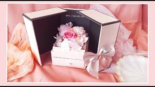 【Florence弗羅倫絲】真925銀投影飾品 情人節精緻香皂花禮盒組