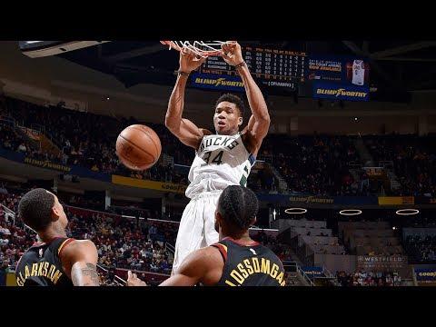 Bucks - Giannis Antetokounmpo powers Bucks to 114-102 win over Cavaliers