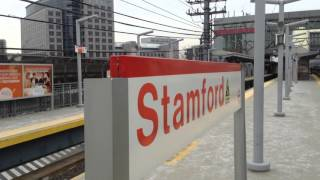Rail fanning Stamford. Amtrak and metro north.