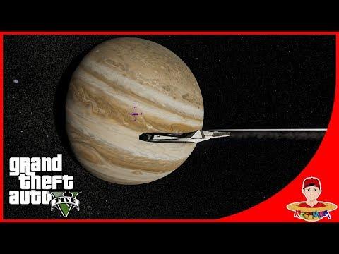 GTA V SPACE MOD (3) - BERJELAJAH KE PLANET MISTERIUS MALAH MASUK BLACKHOLE !!