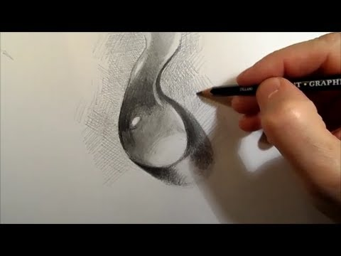 Drawing a Water Drop Time Lapse - YouTube