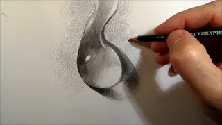 Drawing a Water Drop, Time Lapse