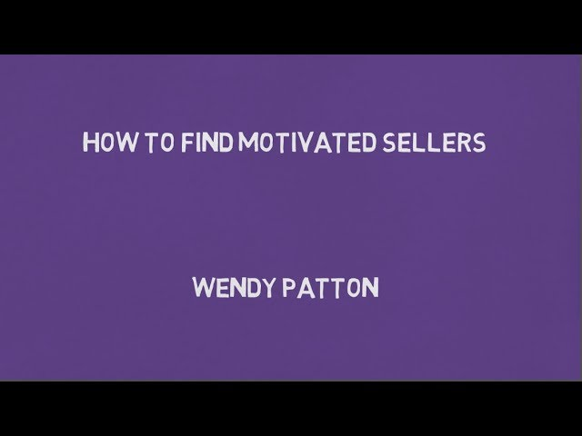 How To Find Motivated Sellers- Lease Options
