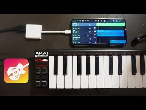 Connecting a MIDI Keyboard or External Mic to an iPhone XS Max! 2018