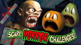 SCARY HORROR CHALLENGES!!! | Annoying Orange Supercut