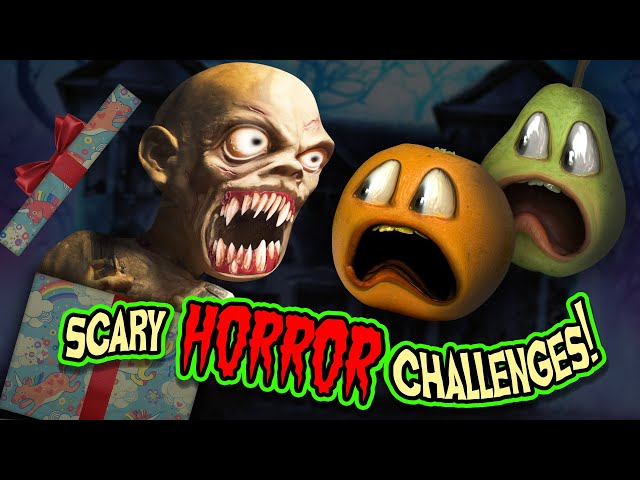SCARY HORROR CHALLENGES!!! | Annoying Orange Supercut