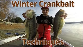 How to Catch Winter Bass on Crankbaits in 40 Degree Water! - Lake Dardanelle