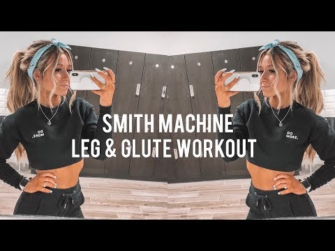 Smith Machine ONLY Leg & Butt Workout | Getting Married | Christmas Decorating