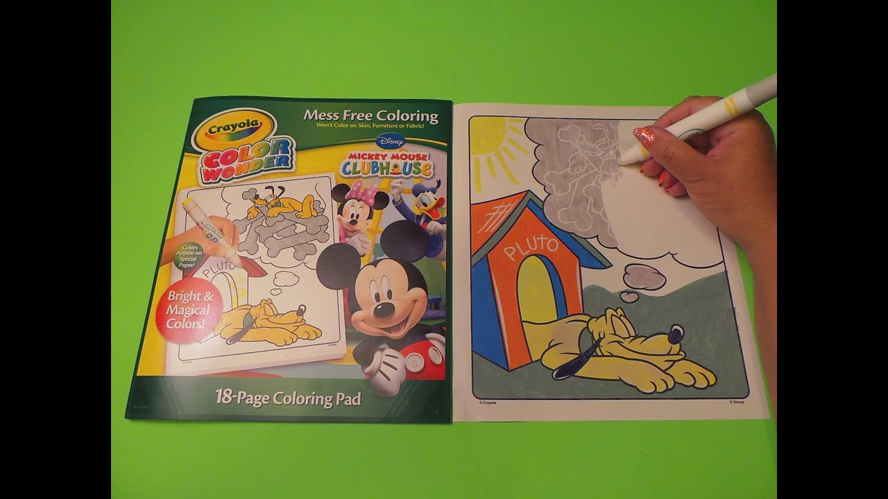 Crayola Mickey Mouse Clubhouse Color Wonder Review - YouTube c43b980dcf34c