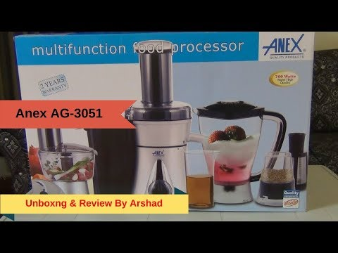 ANEX AG-3051 Multi function Food Processor Unboxing And Review By Arshadskitchen