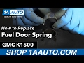 How to Replace Install Fuel Door Spring 88-99 GMC Sierra K1500 Buy Quality Auto Parts at 1AAuto.com