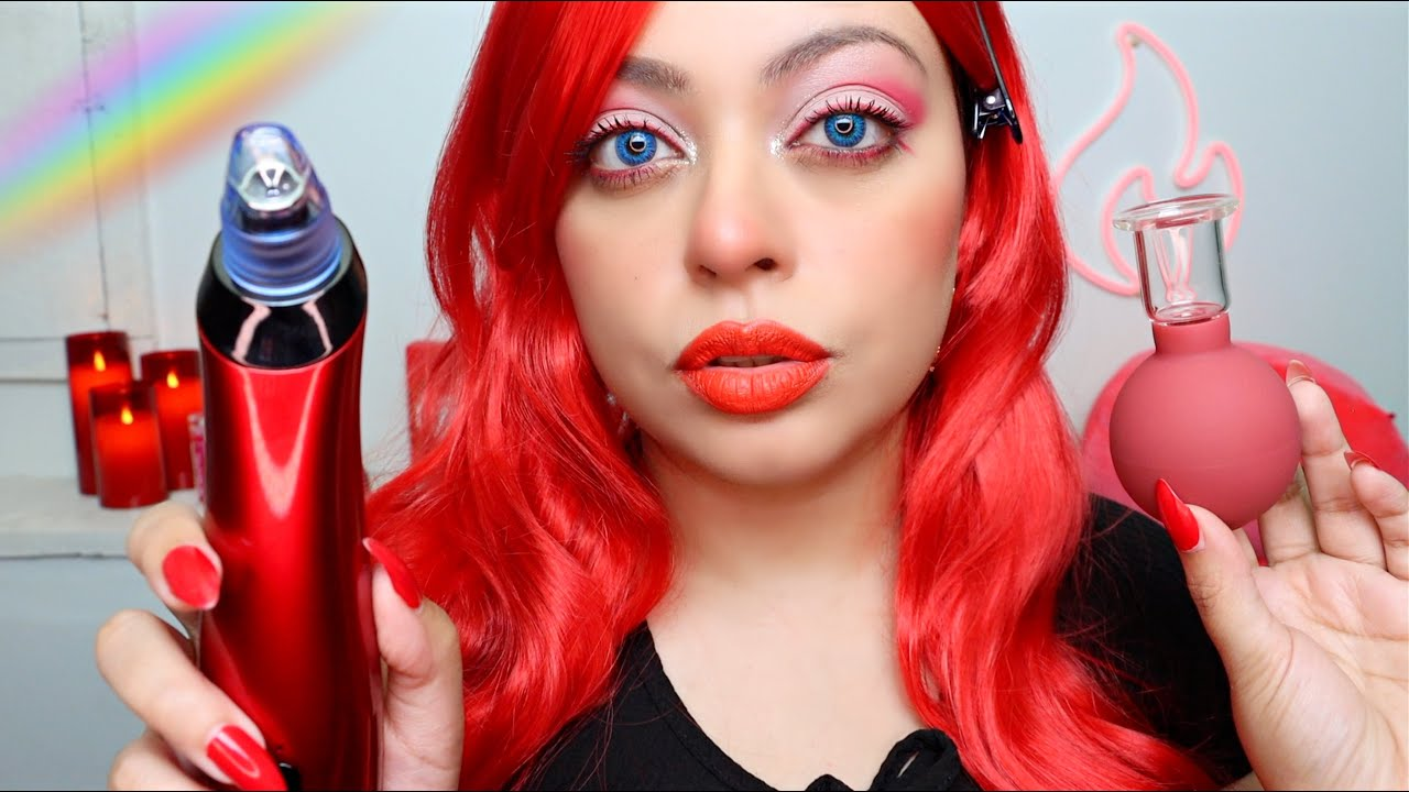 ASMR| 🌈The ROYGBIV Spa - RED EDITION ❤️ Pampering Session (PERSONAL ATTENTION & LAYERED SOUNDS)