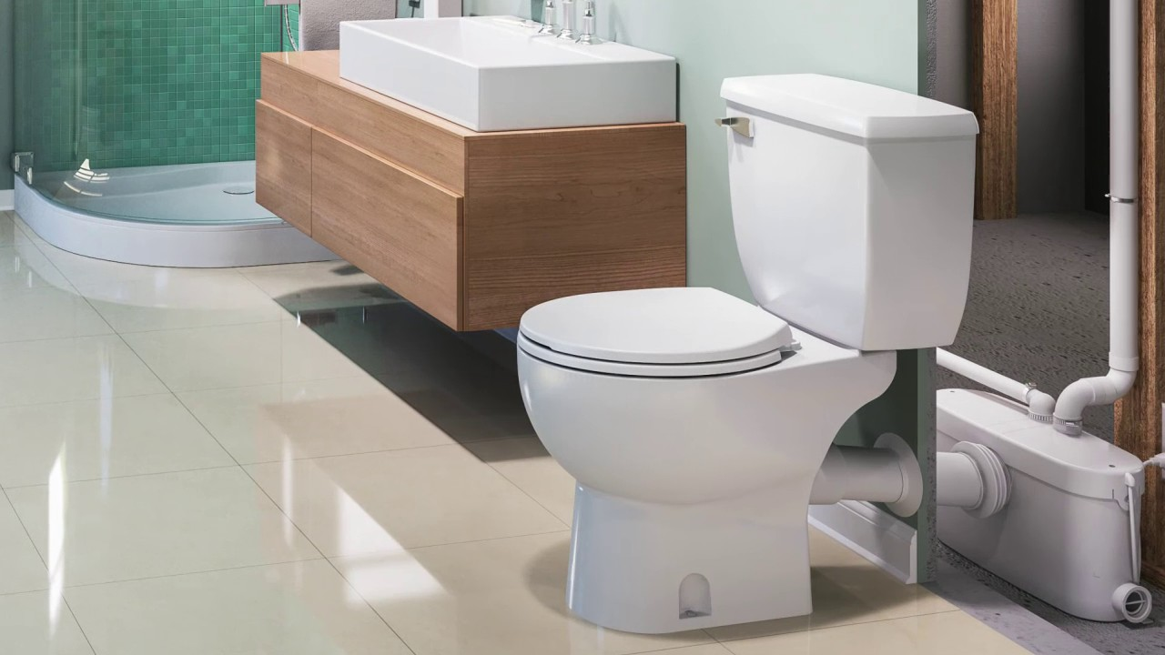 Diagram For Plumbing A Toilet Saniflo Install A Bathroom Anywhere You Want Youtube
