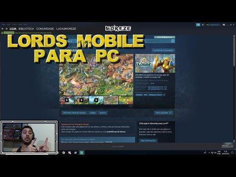 LANÇAMENTO DE LORDS MOBILE PARA PC NA STEAM