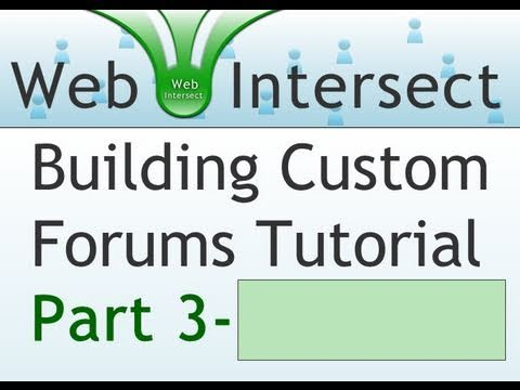 3. Web Intersect Forum Tutorial : Create Posts Table : Separate CSS : PHP templates