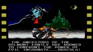 Castlevania The New Generation Intro (Genesis/MegaDrive)