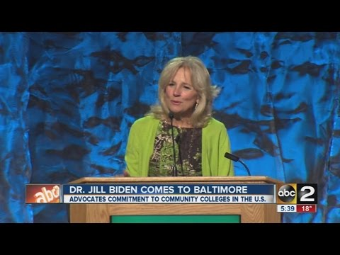 Dr. Jill Biden visits Baltimore, advocates for community college