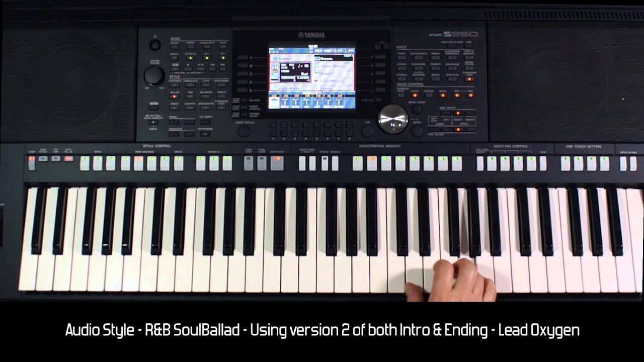 "yamaha psr s950 - style demo ""r&b soulballad"" - hq audio & video"