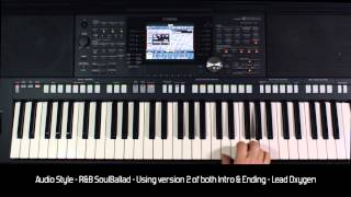 "Yamaha PSR S950 - Style Demo ""R&B SoulBallad"" - HQ Audio & Video"