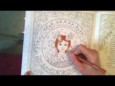 Johanna Basford Ivy and the Inky Butterfly tutorial - hair and skin tones