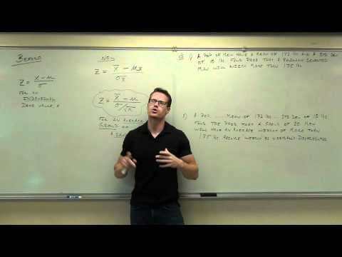 Statistics Lecture 6.5: The Central Limit Theorem for Statistics.  Using z-score, Standard Score
