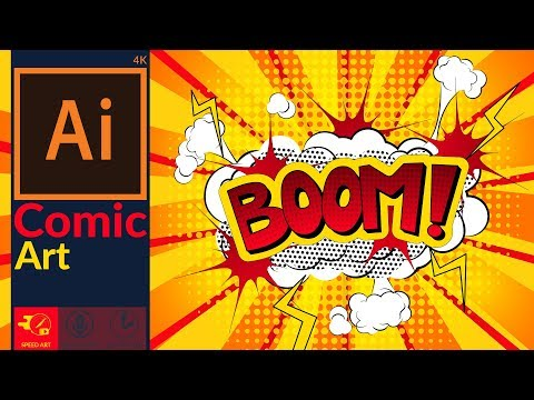Comic Art Explosions Design in adobe illustrator    Pop Art   Speed Art thumbnail