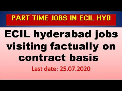 Ecil Hyderabad Jobs Visiting Factually On Contract Basis Latest